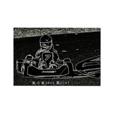 Kid Karts Rock Rectangle Magnet
