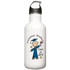 Stick Figure Boy 2013  Water Bottle