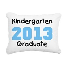 Blue Kindergarten Gradua Rectangular Canvas Pillow