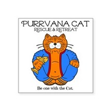 "purr-vana-new Square Sticker 3"" x 3"""