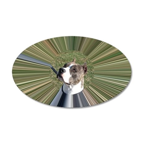 STAFFIE STELLA 2 - TUNNEL 35x21 Oval Wall Decal