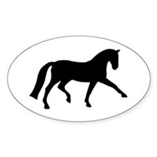 dressage extended trot Oval Decal