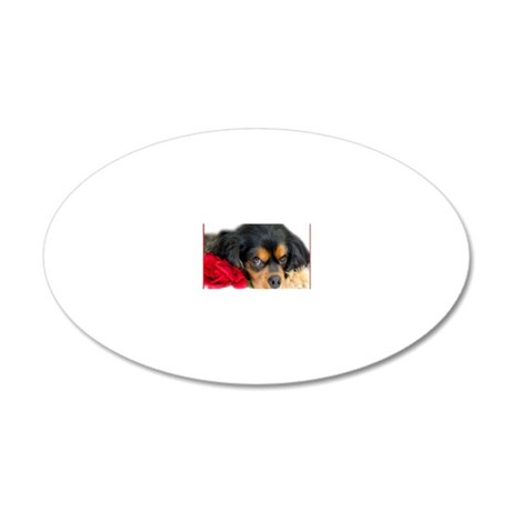 Cavalier King Charles Spanie 20x12 Oval Wall Decal