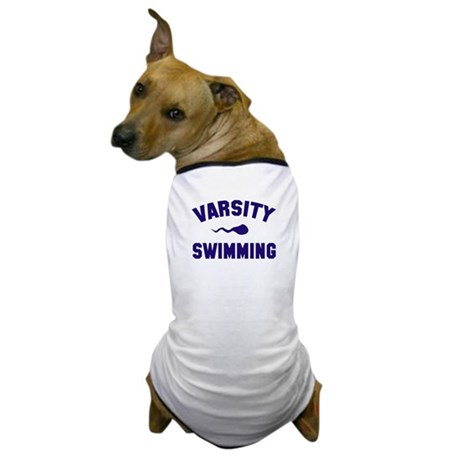 Varsity Swimming (sperm) Dog T-Shirt