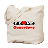 I Love Genevieve Tote Bag