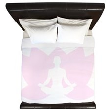 Yoga Girls are Twisted King Duvet