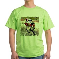 Dirt bike wheeling in mud T-Shirt