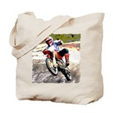 Dirt bike wheeling in mud Tote Bag
