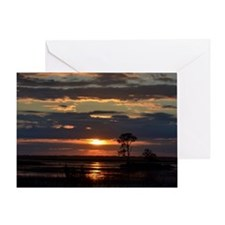 Hunting Island SC Sunset Greeting Card