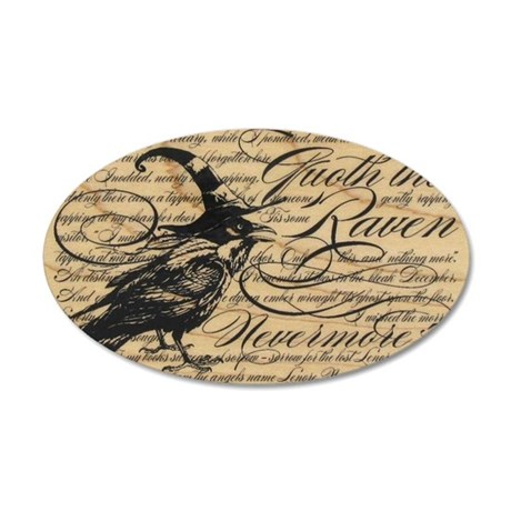 raven nevermore 35x21 Oval Wall Decal