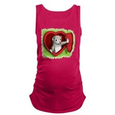 Heart door Maternity Tank Top