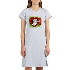 Heart door Women's Nightshirt