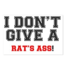 I DONT GIVE A RATS ASS! Postcards (Package of 8)