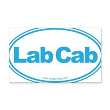 Lab Cab Blue Rectangle Car Magnet