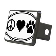 Peace Love Paws Black Hitch Cover