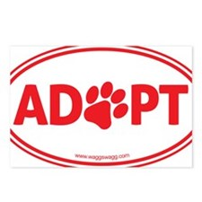Adopt Red Postcards (Package of 8)