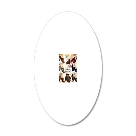 1930s Campus Queen Shoes 20x12 Oval Wall Decal