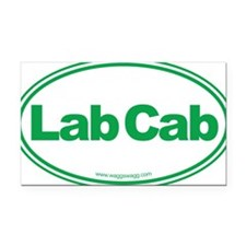 Lab Cab Green Rectangle Car Magnet