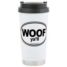 WOOF Yall Black Travel Mug