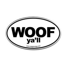 WOOF Yall Black Wall Decal