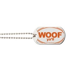 WOOF Yall Orange Dog Tags