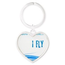 I dont swim... I Fly Heart Keychain