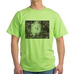 Pomeranian in leaves on Green T-Shirt