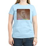 Pomeranian on Women's Pink T-Shirt