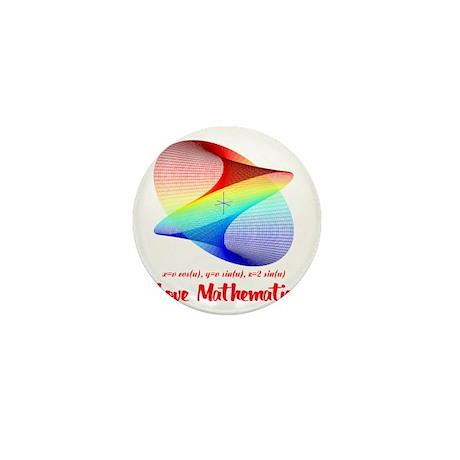 I Love Mathematics Mini Button