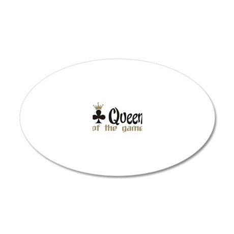 poker queen 20x12 Oval Wall Decal