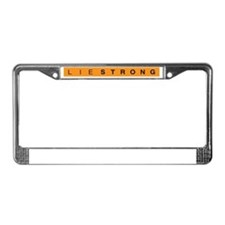 Lie Strong License Plate Frame