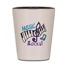 Music Rocks Shot Glass
