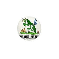 Cartoon Praying Mantis by Lorenzo Mini Button