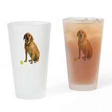 Yellow Lab Life Drinking Glass