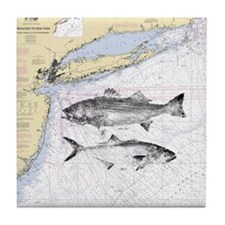 Striped bass Tile Coaster