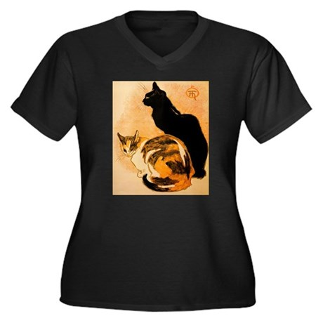 The Cats by Théophile Steinl Women's Plus Size V-