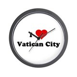 I Love Vatican City Wall Clock