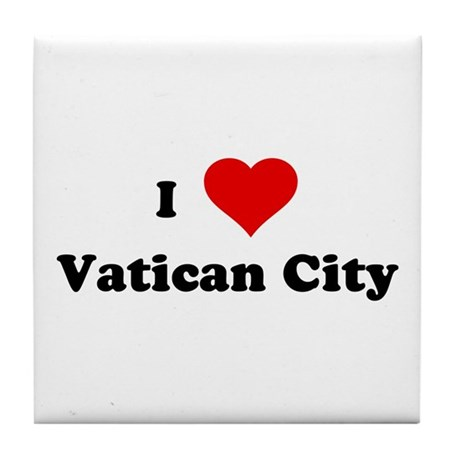 I Love Vatican City Tile Coaster
