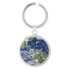Men FB earth Round Keychain