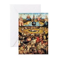 Hieronymus Bosch Garden Of Earthly D Greeting Card