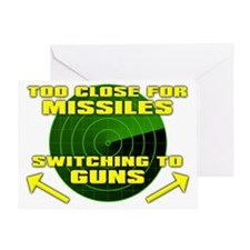 Switching To Guns Funny T-Shirt Greeting Card