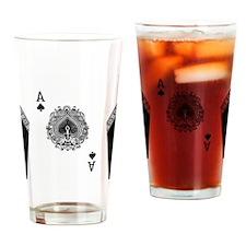 Men FB ace1 Drinking Glass