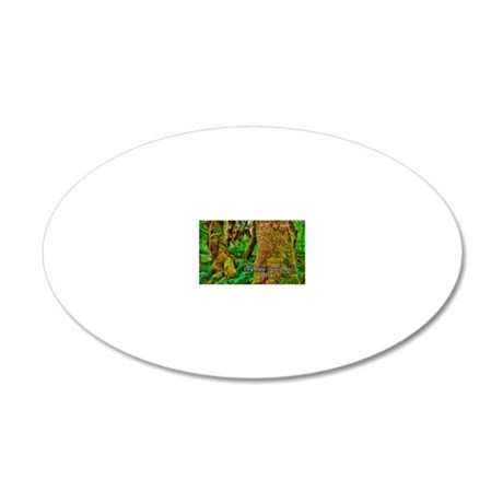 Hoh Rainforest 20x12 Oval Wall Decal