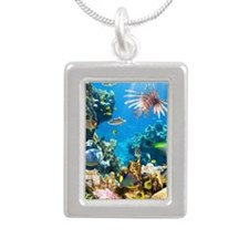 Sea Life Silver Portrait Necklace
