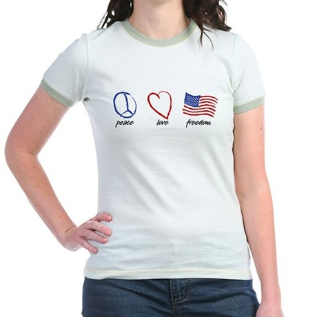 Peace, Love Jr. Ringer T-Shirt