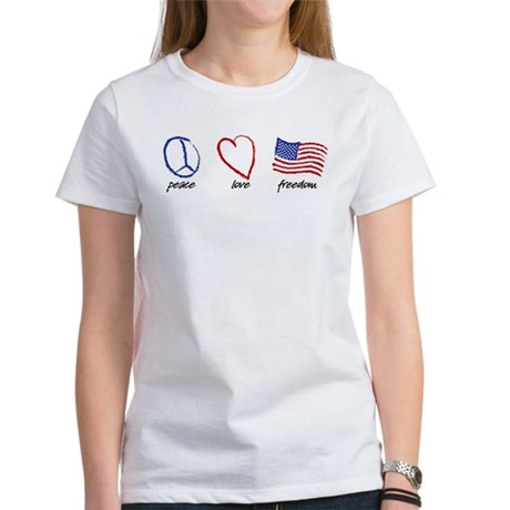 Peace, Love Women's T-Shirt