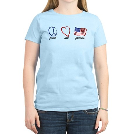Peace, Love Women's Light T-Shirt