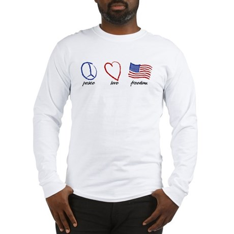 Peace, Love Long Sleeve T-Shirt