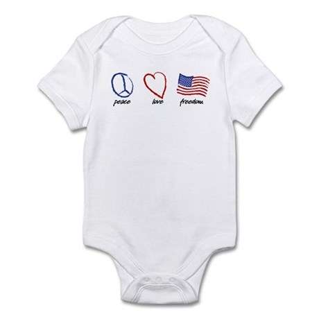 Peace, Love Infant Bodysuit