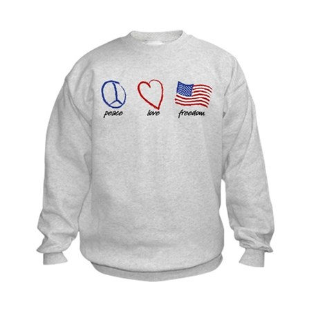 Peace, Love Kids Sweatshirt